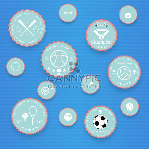 Sports vintage badges and labels - Free vector #131568