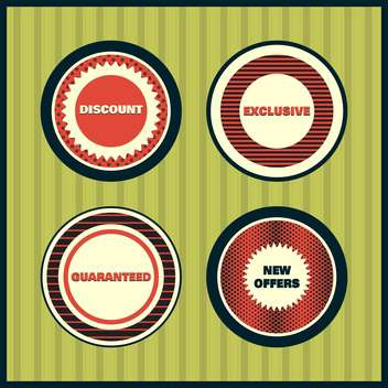 Collection of premium quality labels with retro vintage styled design - бесплатный vector #131608