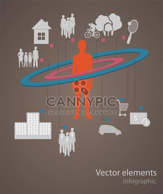 Vektor-Infographik Elemente illustration - Kostenloses vector #131728