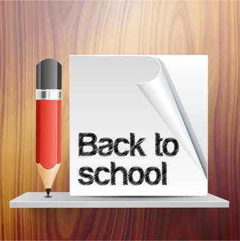 Back to school vector template with pencil - vector gratuit #131738