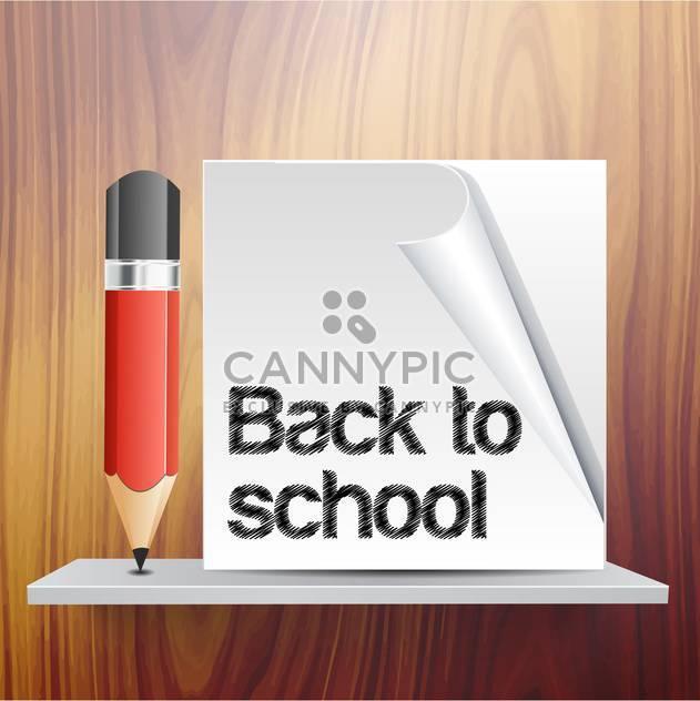 Zurück zu Schule Vektor Vorlage mit Bleistift - Free vector #131738