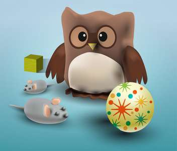 Vector illustration of different toys - Free vector #131768