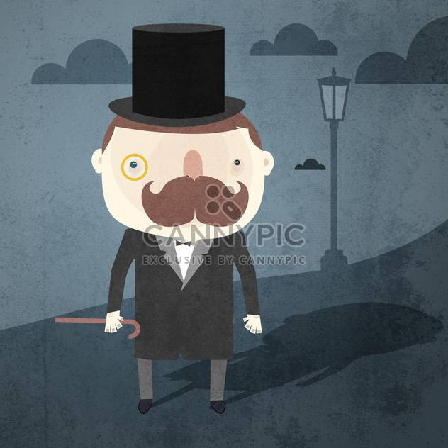 Vector grunge background with gentleman - Free vector #131788