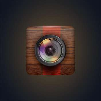 Photo camera web icon vector illustration - Free vector #131808