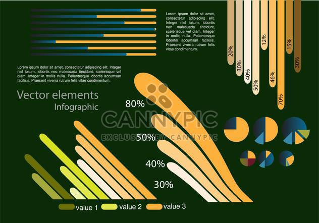 Vector infographic elements illustrations - Free vector #131818