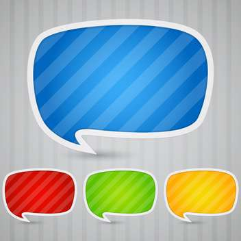 Colorful sticky speech bubbles vector set - Free vector #131928