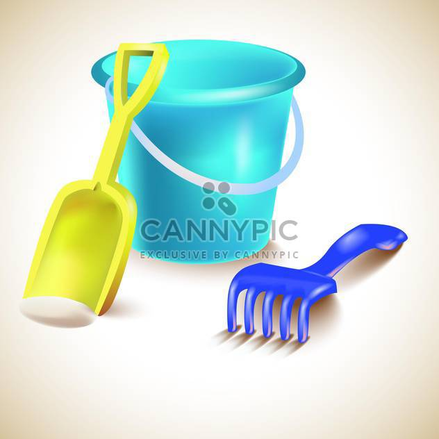 Vektor-Illustration von Spielzeug für Sandkasten - Kostenloses vector #131968