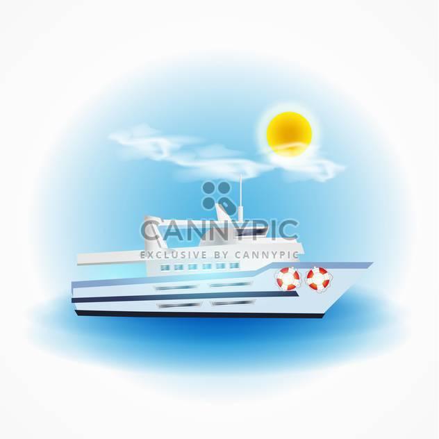Vektor-Boot schwimmt im Meer auf sonnigen Tag - Free vector #131998