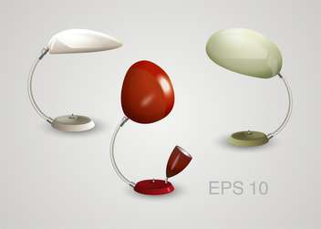 Vector set of lamps on white background - vector gratuit #132028