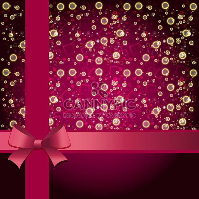 Elegant holiday background with gift pink bow and ribbon - Free vector #132068