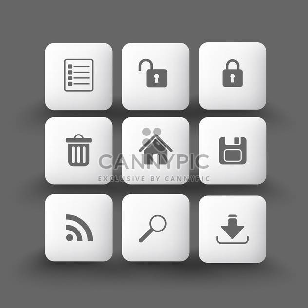 Media and communication icons on grey background - Free vector #132128