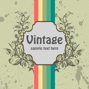 floral vector vintage background with colorful lines - vector gratuit #132218