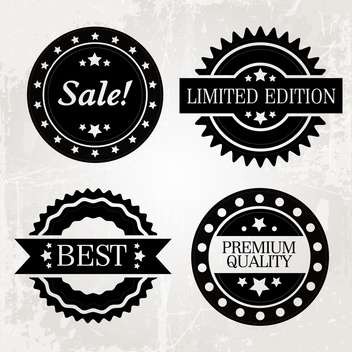 Set of vector sale labels in grunge style ,vector illustration - Free vector #132238