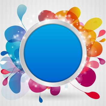 Abstract brignt background for design with blue round frame - vector gratuit #132258