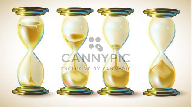 Vector set - hourglasses with golden sand - Free vector #132288
