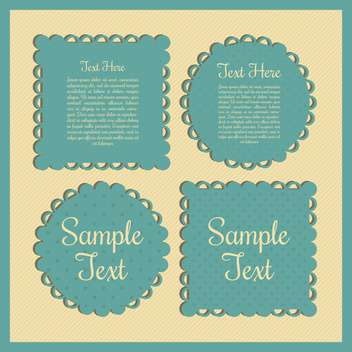 Vintage green frames with place for text on yellow background - vector #132298 gratis