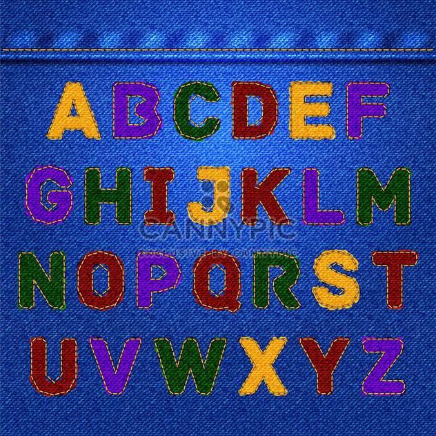 Vector jeans alphabet, fashion jeans texture - Free vector #132358