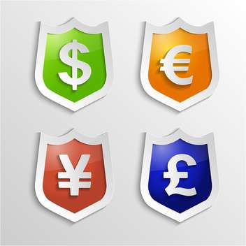 Currency signs with dollar, euro, yen and pound - vector gratuit(e) #132368