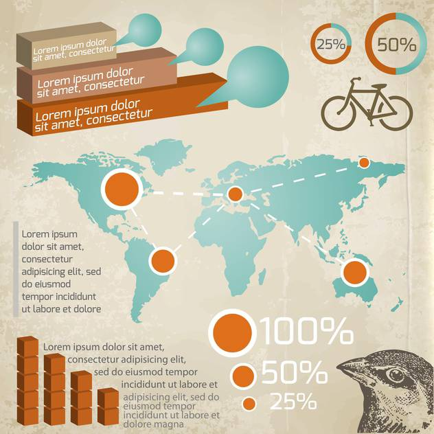infographics illustration of transportation - Free vector #132438