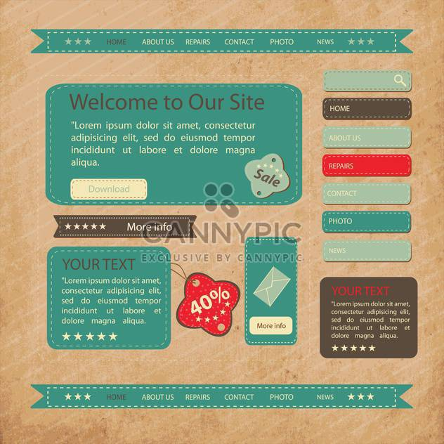 Web site design template,vector illustration - Free vector #132448