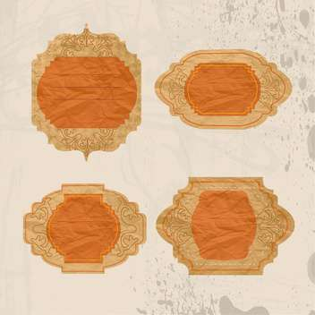 Vintage brown frames vector background - vector gratuit #132458