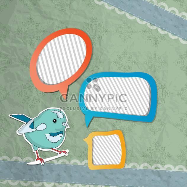 Vektor-Sprechblasen set mit Vogel - Free vector #132518