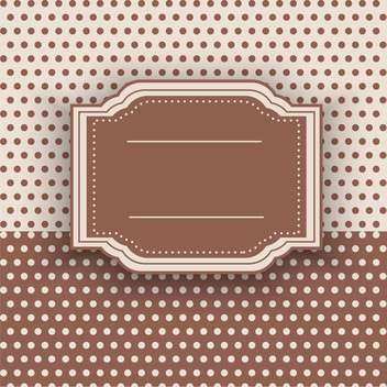 vintage frame vector background - бесплатный vector #132528