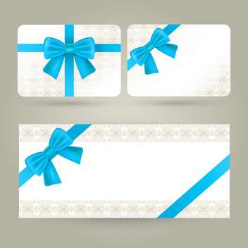 gift cards and certificate with bows - vector gratuit #132548