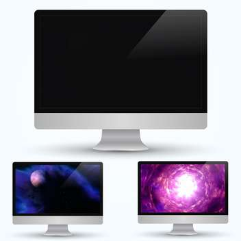 computer monitors screens set - vector gratuit #132578