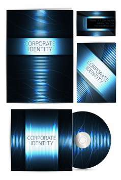professional corporate identity covers - vector gratuit #132598