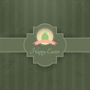 vintage background for happy easter holiday - vector gratuit #132628