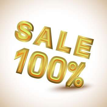 100 percent shopping sale - Free vector #132668