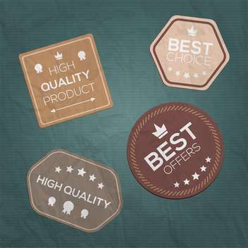 vintage style premium quality labels - Free vector #132688