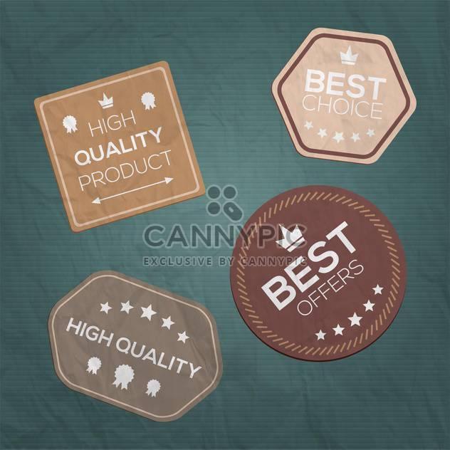 vintage style premium quality labels - Free vector #132688