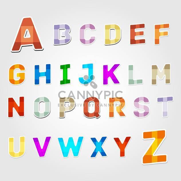 Bildung Alphabet Vektor Buchstaben Satz - Free vector #132708