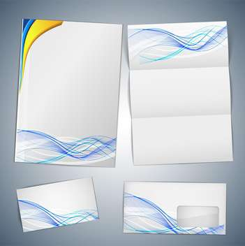 business cards and envelope template - vector gratuit #132748