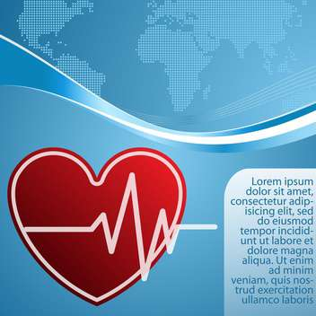 heart with cardiogram vector background - vector gratuit #132758