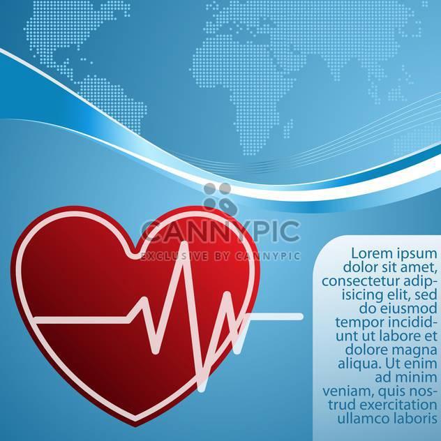 Herz mit kardiogramm Vektor Hintergrund - Free vector #132758