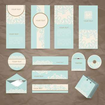 vintage cards, envelope and packages - vector gratuit #132768