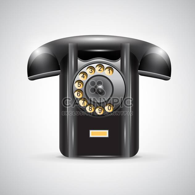 old black phone vector illustration - Free vector #132778
