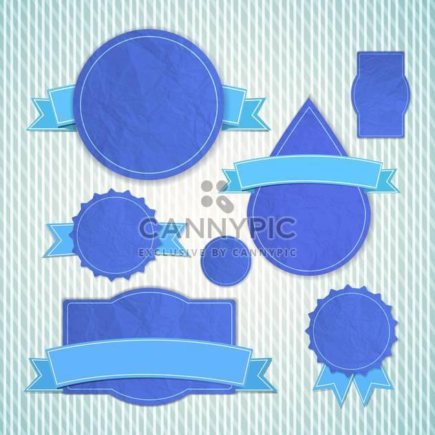 blaue leere Jahrgang Embleme Satz - Free vector #132828