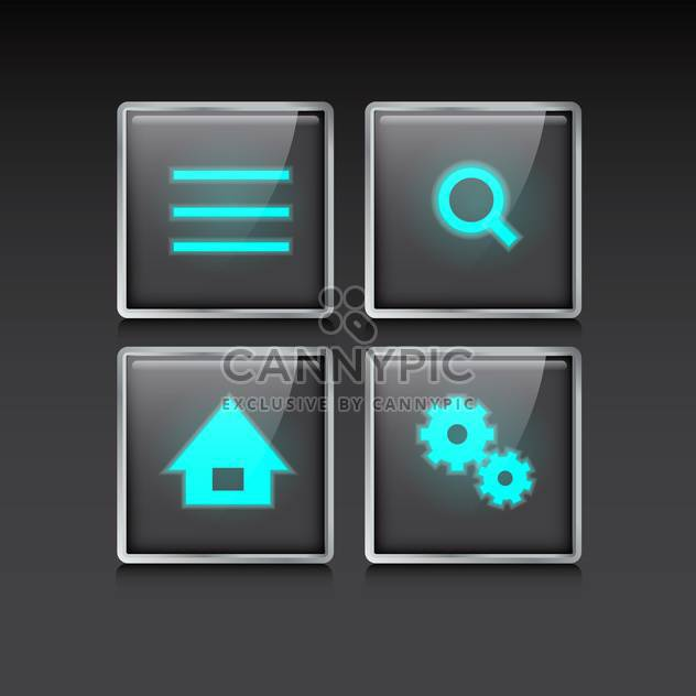 web site vector icons set - Free vector #132888