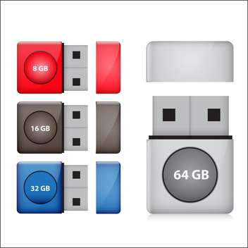 flash drive set vector illustration - бесплатный vector #132918