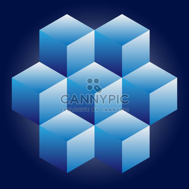 geometric cubes vector background - Free vector #133018