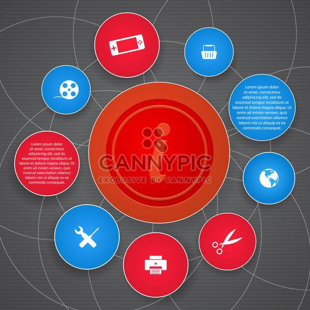 vector set of web buttons - Free vector #133048