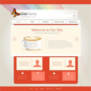 website template for cafe or restaurant - vector gratuit #133128