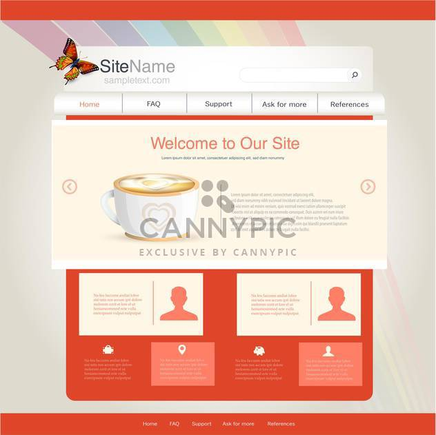 website template for cafe or restaurant - Free vector #133128