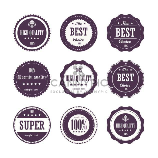 collection of vintage high quality labels - Free vector #133148