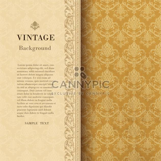 vintage background with damask ornaments - Free vector #133158