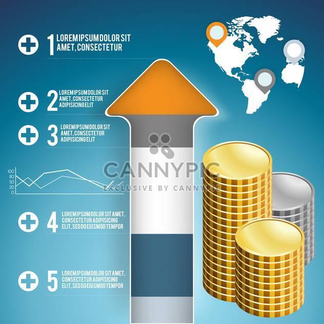 Geschäft Infographik Elemente festlegen - Kostenloses vector #133178